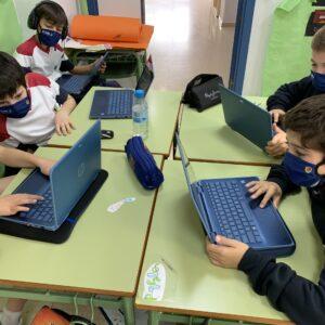 Cómo los alumnos de 5º de EP trabajan el aprendizaje colaborativo